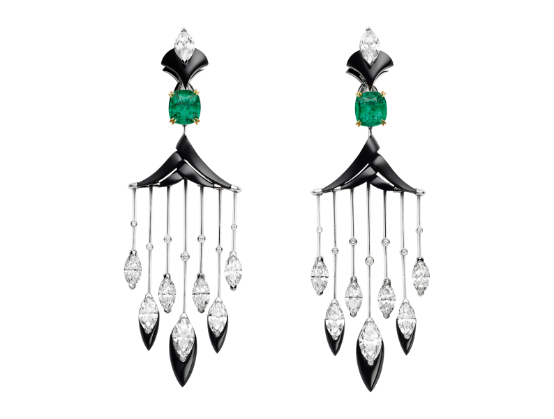 Cascades Royales earrings Tresors Afrique High Jewelry Les Mondes Chaumet 2018