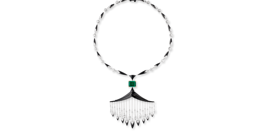 Cascades royales Tresors Afrique Chaumet necklace high jewelry
