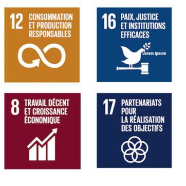 Une politique de RSE basée sur <em>4 Objectifs de développement durable</em>